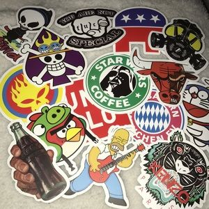 Other - 15 pack sticker decal skate star wars simpsons